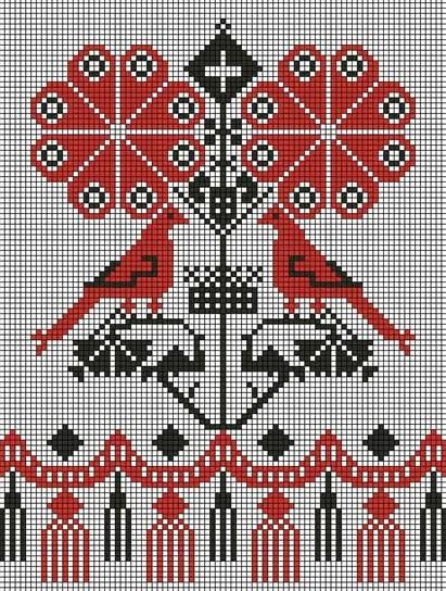 Схема вышивки тамбовского