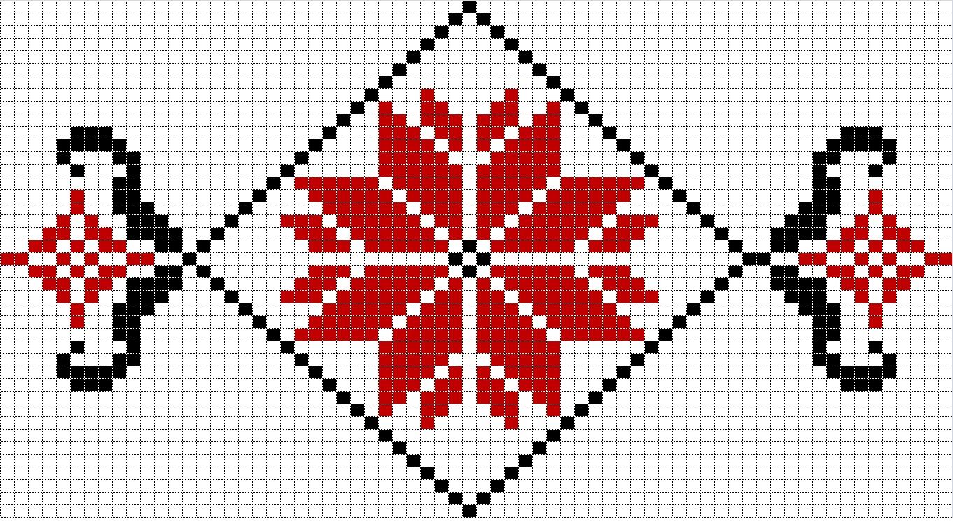 Узор для рушника вышивка крестом схемы
