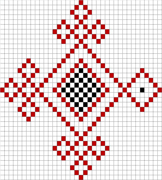 Схема марийских вышивок